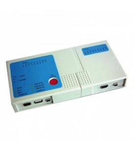 TESTADOR MULTIFUNCIONAL BNC/RJ45/USB